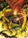 Fantastic Four No.575 Cover: Thing, Mr. Fantastic, Invisible Woman, Human Torch and Mole Man Prints by Alan Davis