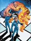 Marvel Age Fantastic Four No.5 Cover: Mr. Fantastic Plastic Sign by Makoto Nakatsuka