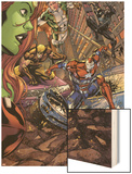 Savage She-Hulk No.2 Group: Iron Patriot, Wolverine, Spider-Man and Marvel Boy Wood Print by Peter Vale