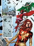 Fantastic Force No.2 Group: Phoenix, Scarlet Witch and Polaris Poster by Steve Kurth