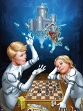 FF No.16 Cover: Franklin and Valeria Richards Plastic Sign by Mike Choi