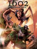 Marvel 1602: Fantastick Four No.5 Cover: Mr. Fantastic and Dr. Doom Plastic Sign