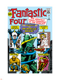 The Fantastic Four No.3 Cover: Mr. Fantastic Plastic Sign by Jack Kirby