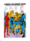 Fantastic Four No.250: Mr. Fantastic, Invisible Woman, Human Torch, Thing, Richards and Franklin Plastic Sign by John Byrne