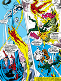 What If No.1 Group: Human Torch, Spider-Man, Mr. Fantastic, Thing, Vulture and Fantasticar Art by Jim Craig