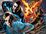 Fantastic Four No.569 Cover: Invisible Woman, Mr. Fantastic, Human Torch and Thing Plastic Sign by Bryan Hitch