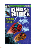 Ghost Rider No.35 Cover: Ghost Rider Plastic Sign by Bob Budiansky