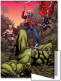 Skaar: King of The Savage Land No.3 Cover: Skaar, Ka-Zar, Moon Boy Posters by Chris Stevens