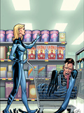 Marvel Adventures Fantastic Four No.40 Cover: Invisible Woman and Mr. Fantastic Plastic Sign by Clayton Henry