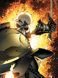 Ghost Rider No.8 Cover: Ghost Rider Flaming Wall Decal by Matt Clarke