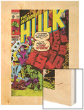 Incredible Hulk No.135 Cover: Hulk and Kang Lifting Wood Print by Herb Trimpe