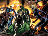 Fantastic Four No.553 Group: Dr. Doom, Mr. Fantastic, Thing, Invisible Woman and Human Torch Wall Decal by Paul Pelletier