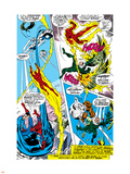 What If No.1 Group: Human Torch, Spider-Man, Mr. Fantastic, Thing, Vulture and Fantasticar Plastic Sign by Jim Craig