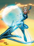 Ultimate Fantastic Four No.55 Cover: Invisible Woman Plastic Sign by Billy Tan