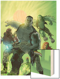 World War Hulk: Gamma Corps No.1 Cover: Griffin, Prodigy, Mess, Mr. Gideon and Grey Wood Print by Stephane Roux