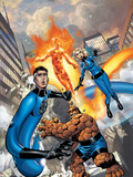 Fantastic Four No.517 Cover: Mr. Fantastic, Invisible Woman, Thing, Human Torch and Fantastic Four Plastic Sign by Mike Wieringo