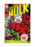 Incredible Hulk No.135 Cover: Hulk and Kang Lifting Plastic Sign by Herb Trimpe