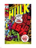 Incredible Hulk No.135 Cover: Hulk and Kang Lifting Plastic Sign by Herb Trimpe
