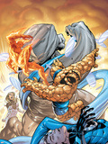 Marvel Adventures Fantastic Four No.34 Cover: Thing and Human Torch Plastic Sign by Tom Grummett