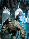 Fantastic Four No.605 Cover: Thing and Nathaniel Richards Plastic Sign by Ron Garney