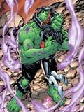 Incredible Hulks No.628: Hulk and Red She-Hulk Hugging and Kissing Plastic Sign by Tom Grummett