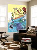 Ff 9 Cover: Medusa, Ant-Man, She-Hulk, Deering, Darla, Power, Alex, Ahura, Luna, Leech, Maddicks Wall Mural by Michael Allred