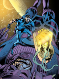 Fantastic Four No.571 Cover: Mr. Fantastic and Galactus Plastic Sign by Alan Davis