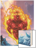 Human Torch No.11 Cover: Human Torch Prints by Howard Porter