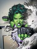 She-Hulk No.5 Cover: She-Hulk Wall Decal by Adi Granov