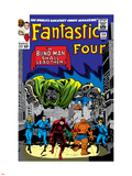 Fantastic Four No.39 Cover: Dr. Doom Plastic Sign by Jack Kirby
