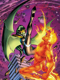 Secret Invasion: Fantastic Four No.2 Cover: Human Torch and Lyja Plastic Sign by Alan Davis