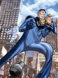 Marvel Adventures Fantastic Four No.46 Cover: Mr. Fantastic and Invisible Woman Plastic Sign by David Williams