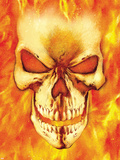 Ghost Rider No.15 Headshot: Ghost Rider Plastic Sign by Mark Texeira