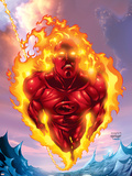 Human Torch No.11 Cover: Human Torch Wall Decal by Howard Porter