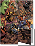 Savage She-Hulk No.2 Group: Iron Patriot, Wolverine, Spider-Man and Marvel Boy Print by Peter Vale