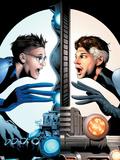 Ultimate Fantastic Four No.21 Cover: Mr. Fantastic Charging Plastic Sign by Greg Land