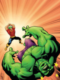 Marvel Adventures Hulk No.9 Cover: Hulk and Doc Samson Plastic Sign by Steve Scott