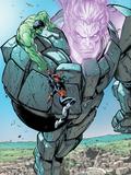Incredible Hulks No.628: Hulk, Red She-Hulk, and Tyrannus Plastic Sign by Tom Grummett