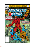 Fantastic Four N184 Cover: Thing Plastic Sign by George Perez