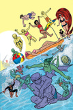 Ff 9 Cover: Medusa, Ant-Man, She-Hulk, Deering, Darla, Power, Alex, Ahura, Luna, Leech, Maddicks Plastic Sign by Michael Allred
