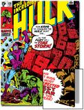 Incredible Hulk No.135 Cover: Hulk and Kang Lifting Print by Herb Trimpe