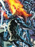 Fantastic Four No.560 Cover: Dr. Doom, Human Torch and Galactus Plastic Sign by Bryan Hitch