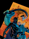 Marvel Knights 4 No.21 Cover: Mr. Fantastic, Invisible Woman and Black Panther Plastic Sign by Valentine De Landro