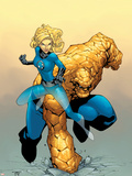 Tales Of The Thing No.3 Cover: Thing and Invisible Woman Plastic Sign by Randy Green