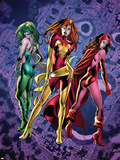 Fantastic Force No.2 Cover: Phoenix, Scarlet Witch and Polaris Wall Decal by Bryan Hitch