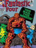 Fantastic Four No.51 Cover: Invisible Woman and Thing Posters by Jack Kirby