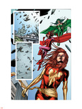 Fantastic Force No.2 Group: Phoenix, Scarlet Witch and Polaris Plastic Sign by Steve Kurth
