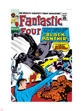 Fantastic Four No.52 Cover: Mr. Fantastic Plastic Sign by Jack Kirby