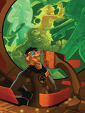 Dark Reign: Fantastic Four No.2 Cover: Mr. Fantastic Plastic Sign by Pasqual Ferry