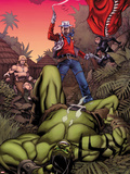 Skaar: King of The Savage Land No.3 Cover: Skaar, Ka-Zar, Moon Boy Plastic Sign by Chris Stevens